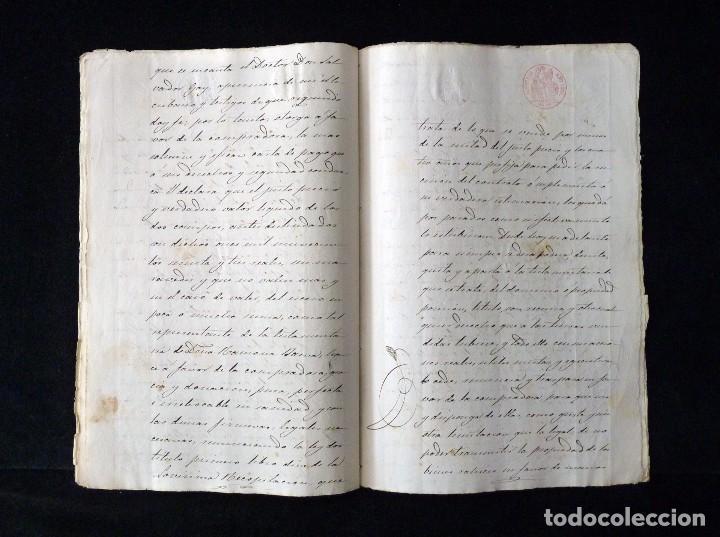 Manuscritos antiguos: TIMBROLOGÍA FISCAL 1860 SELLO ILUSTRES 60 REALES (2 SELL) + SELLO 4º 40 MARAVEDIS (2 SELL) VALENCIA - Foto 8 - 75826043
