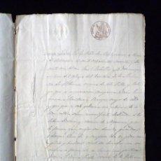 Manuscritos antiguos: TIMBROLOGÍA FISCAL 1862 SELLO 6º 16 REALES. VALENCIA . Lote 75827119