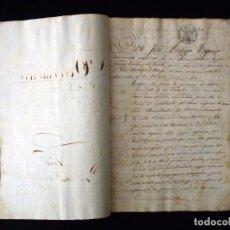 Manuscritos antiguos: TIMBROLOGÍA FISCAL 1860 SELLO 4º 40 MARAVEDIS. VALENCIA. 6 SELLOS. Lote 75889847