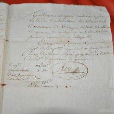 Manuscritos antiguos: MANUSCRITO ORIGINAL LA GIRONDE , FRANCIA. Lote 75912219
