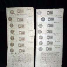 Manuscritos antiguos: TIMBROLOGÍA FISCAL 1896 SELLO 11º 2 PESETAS (7 SELLOS)+ SELLO 13º 75 CÉNTIMOS (7 SELLOS). VALENCIA . Lote 75951323