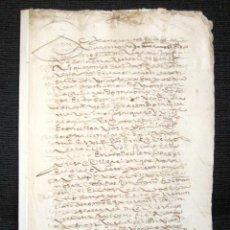 Manuscritos antiguos: AÑO 1596. JEREZ DE LA FRONTERA, CÁDIZ. DOTE DE CASAMIENTO DE 5.000 DUCADOS. Lote 76079031