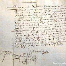 Manuscritos antiguos: AÑO 1613. GRANADA. DECLARACIONES DE DIEGO SANCHEZ Y AGUSTIN JIMENEZ. . Lote 76209295