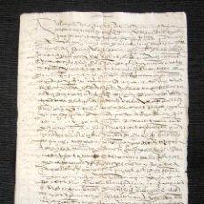 Manuscritos antiguos: AÑO 1596. CORTEGANA (HUELVA). VENTA DE TIERRAS DE LAS ALBERQUILLAS. MALLORAZGO L. VAZQUEZ ROMERO. . Lote 76209651