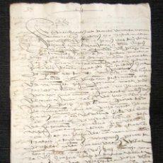 Manuscritos antiguos: AÑO 1597. CORTEGANA (HUELVA). VENTA TRUEQUE DE TIERRAS DE GARROCHADO, EN TÉRMINO DE AROCHE.. Lote 76209963