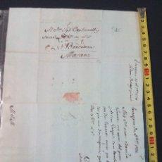 Manuscritos antiguos: DOCUMENTO MANUSCRITO CARTA DE 1794 DE MATARÓ. Lote 76405543