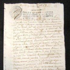 Manuscritos antiguos: AÑO 1769. AMPUERO (SANTANDER). JUAN FRANCISCO Y MARÍA CONTRAEN ESPONSALES. CONCILIO DE TRENTO. . Lote 76452471