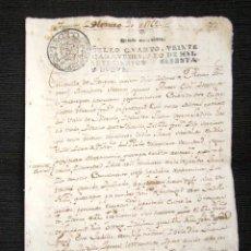 Manuscritos antiguos: AÑO 1769. AMPUERO (SANTANDER). RECONOCIMIENTO DE HIJO Y PAGO A SU MADRE, 350 REALES.OBTIENE LIBERTAD. Lote 76453319