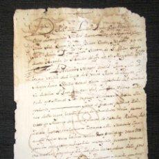 Manuscritos antiguos: AÑO 1764. AMPUERO (SANTANDER). FRANCISCO DE LLANILLA, COMISARIO DEL SANTO OFICIO DE LA INQUISICIÓN. . Lote 76454235
