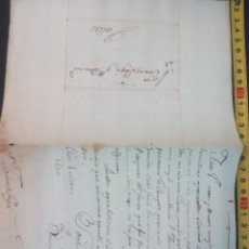 Manuscritos antiguos: DOCUMENTO CARTA COMERCIAL DE VALLS (TARRAGONA) DE 1800-3-4. Lote 76529695