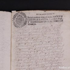 Manuscritos antiguos: MANUSCRITO CENSO DE CIEN DUCADOS BURGOS 1678. Lote 77338205