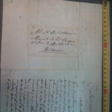 Manuscritos antiguos: DOCUMENTO CARTA DE GRAÑENA (TARRAGONA) DE 1838-7-18. Lote 77370805