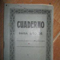 Manuscritos antiguos: LIBRETA ANTIGUA PEQUEÑA CON MANUSCRITO VARIOS 10 PAGS. Lote 43487670