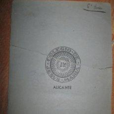 Manuscritos antiguos - manuscrito ( DETERIORADO ) cocina reposterIA RECETAS MANUSCRITAS COCINA alicante J.BONASTRE - 27035323