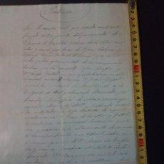 Manuscritos antiguos: DOCUMENTO SENTENCIA DE CAUSA CIVIL DE 1854-3-22 DE LA ZONA DE TARRAGONA.. Lote 78050669