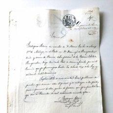 Manuscritos antiguos: ISABEL II (1852). MANUSCRITO. PAPEL SELLADO O TIMBRADO. SELLO 3º 4 REALES. Lote 78138655