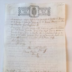 Manuscritos antiguos: ISABEL II (1840). MANUSCRITO. PAPEL SELLADO O TIMBRADO. SELLO 4º 40 MARAVEDIS. Lote 79035745