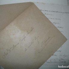 Manuscritos antiguos: CARTA CON POESIA DECIMA MANUSCRITO VALENCIA SIGLO XIX RICARDO MUR SANCHO FIRMADA 1891. Lote 23907525