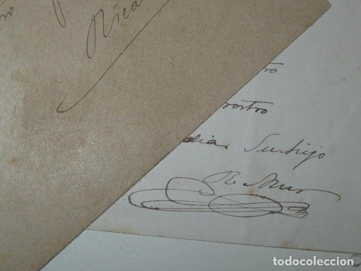 Manuscritos antiguos: CARTA CON POESIA DECIMA MANUSCRITO VALENCIA SIGLO XIX RICARDO MUR SANCHO FIRMADA 1891 - Foto 2 - 23907525