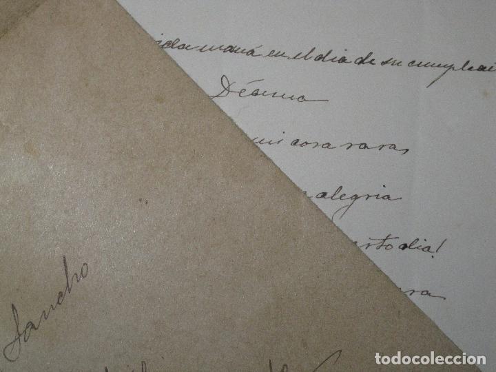 Manuscritos antiguos: CARTA CON POESIA DECIMA MANUSCRITO VALENCIA SIGLO XIX RICARDO MUR SANCHO FIRMADA 1891 - Foto 3 - 23907525