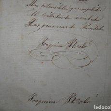 Manuscritos antiguos: MANUSCRITO POESIA RELIGIOSA CATOLICO A CURA SIGLO XIX FINALES FIRMADA JOAQUINA RADÓ Ó BADO. Lote 26494743