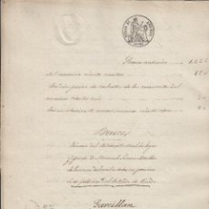 Manuscritos antiguos: 1861 SELLO 4º 40 MS .DOCUMENTO MANUSCRITO TIMBRADO PAPEL SELLADO. Lote 79038321