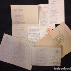 Manuscritos antiguos: VARIAS POESIAS MANUSCRITAS AÑOS 50, FIRMA PABLO, CAFE VARELA, CALLE REAL, CANCIONES DE SOPA... Lote 80006629