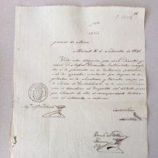 Manuscritos antiguos: ISABEL II 1846 . MANUSCRITO. PAPEL SELLADO O TIMBRADO. SELLO DE OFICIO SECO 4 MARAVEDIS.. Lote 80271119