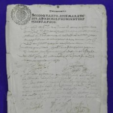 Manuscritos antiguos: MANUSCRITO DE TORREBLANCA Y BOLLULLOS DE LA MITACIÓN 1613 SEVILLA PAGOS DE 5 Y 10 GALLINAS PERPETUAS. Lote 80473509