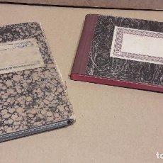 Manuscritos antiguos: DOS CURIOSAS LIBRETAS MANUSCRITAS. CONTABILIDAD Y TELÉFONOS. AÑOS 50. Lote 80736710