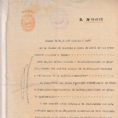 Manuscritos antiguos: 194 VALENCIA. DOCUMENTO IMPRESO NUMERADO COLEGIO NOTARIAL VALENCIA VENTA INSTITUTO NACIONAL VIVIENDA. Lote 80764616
