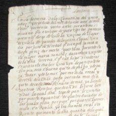 Manuscritos antiguos: AÑO 1588. VIVELA. LUGO. VENTA DE UNA TIERRA EN 4 DUCADOS POR PARTE DE DIEGO VILELA A DIEGO PEREZ. . Lote 80817547