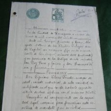 Manuscritos antiguos: PODER NOTARIA ENRIQUE GIMENEZ GRAN, ZARAGOZA, 1920. Lote 80880043
