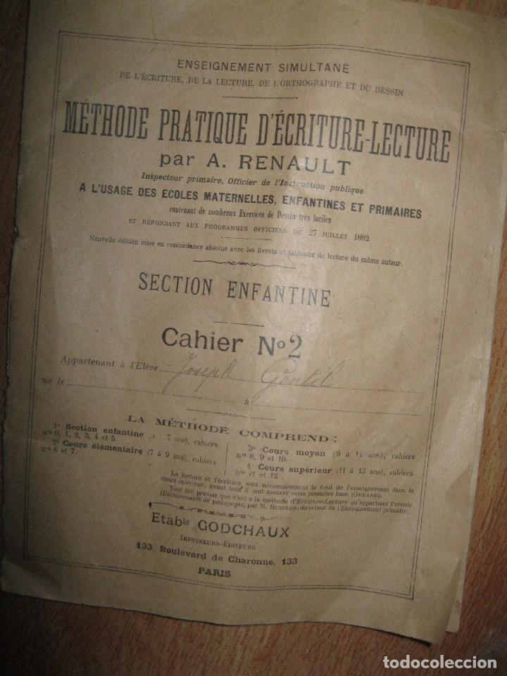 LIBRETA MANUSCRITA CON DIBUJOS ANTIGUA ESCRITURA FRANCE METHODE POUR A RENAULT (Coleccionismo - Documentos - Manuscritos)