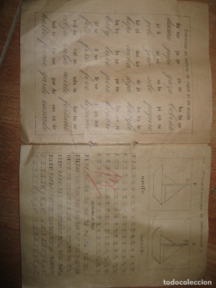 Manuscritos antiguos: LIBRETA MANUSCRITA CON DIBUJOS ANTIGUA ESCRITURA FRANCE METHODE POUR A RENAULT - Foto 2 - 80956504