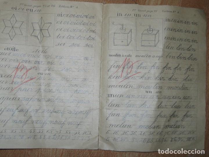 Manuscritos antiguos: LIBRETA MANUSCRITA CON DIBUJOS ANTIGUA ESCRITURA FRANCE METHODE POUR A RENAULT - Foto 5 - 80956504