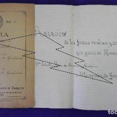 Manuscritos antiguos: MANUSCRITO 1895 1º PODER NOTARIAL, MARQUESA DE GRAÑINA A SU ESPOSO. 2º 1049 POSESIONES ALMENAR SORIA. Lote 80968680