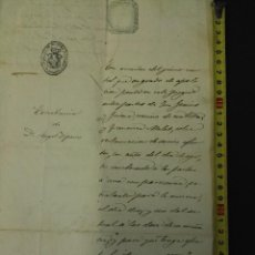 Manuscritos antiguos: DOCUMENTO DE LA SELVA DEL CAMP DE 1865-8-9. Lote 81046792