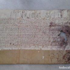 Manuscritos antiguos: BULA PAPAL ? PERGAMINO . SIGLO XVII . MEDIDAS 30X25 CM. Lote 81156092