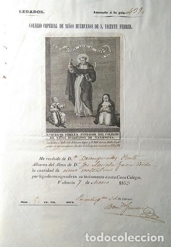 COLEGIO IMPERIAL DE NIÑOS HUERFANOS DE S. VICENTE FERRER VALENCIA 1756-1853 NOMBRAMIENTO DE CLAVERO (Coleccionismo - Documentos - Manuscritos)