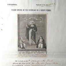 Manuscritos antiguos: COLEGIO IMPERIAL DE NIÑOS HUERFANOS DE S. VICENTE FERRER VALENCIA 1756-1853 NOMBRAMIENTO DE CLAVERO. Lote 81228792