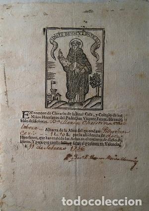 Manuscritos antiguos: COLEGIO IMPERIAL DE NIÑOS HUERFANOS DE S. VICENTE FERRER VALENCIA 1756-1853 NOMBRAMIENTO DE CLAVERO - Foto 2 - 81228792