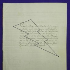 Manuscritos antiguos: 1905-1906. LISTA DE COLONOS PAGOS Y RENTAS DE LAS FINCAS DE LA MARQUESA DE GRAÑINA EN TREBUJENA.. Lote 81250856