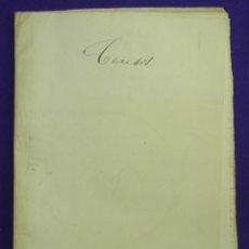 Manuscritos antiguos: 1897. DOS CENSOS DEL MARQUES DE GRANINA A PARROQUIA DE SANTAMARIA DE ECIJA Y CONVENTO DE SAN AGUSTIN. Lote 191239271