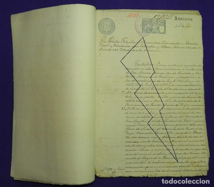 Manuscritos antiguos: 1897. DOS CENSOS DEL MARQUES DE GRANINA A PARROQUIA DE SANTAMARIA DE ECIJA Y CONVENTO DE SAN AGUSTIN - Foto 3 - 191239271