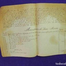 Manuscritos antiguos: MANUSCRITO DEL MARQUES DE GRAÑINA SOBRE LA 5ª PARTE DE LA HERENCIA QUE LE TOCA EN ALMENAR SORIA. Lote 81346268