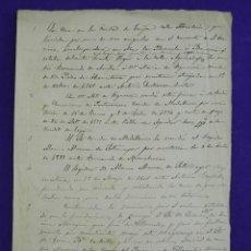 Manuscritos antiguos: MANUSCRITO 1561- 1889 RELACION DE PROPIETARIOS DE UNA FINCA EN ECIJA, DE LOS MARQUESES DE GRAÑINA. Lote 81437836