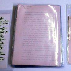 Manuscritos antiguos: DURANCAMPS CARPETA CON 20 DOCUMENTOS DE CARACTER SOCIAL, CELEBRACIONES, DEDICATORIAS...SABADELL. Lote 81559852
