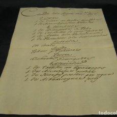 Manuscritos antiguos: UNO DE LOS PRIMEROS MANUSCRITOS DE LA PAELLA VALENCIANA ARROZ MENU REINA DE ESPAÑA 1789 MADRID XVIII. Lote 81820012