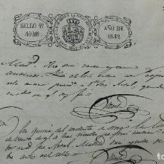 Manuscritos antiguos: ANTIGUO DOCUMENTO MANUSCRITO. SELLO FISCAL 1842. DOCUMENTO COMPLETO. VER FOTOS. . Lote 127911451
